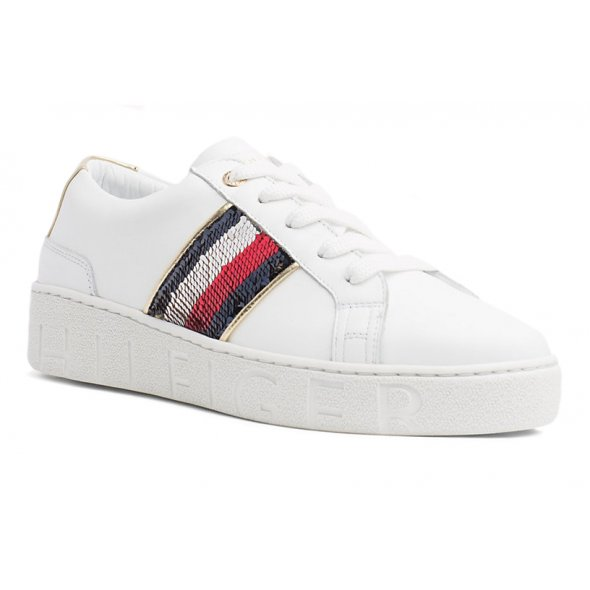 a686fe100ef Tommy Hilfiger Sequins Fashion Sneaker FW0FW03704 100 White | Apostolidis  Shoes