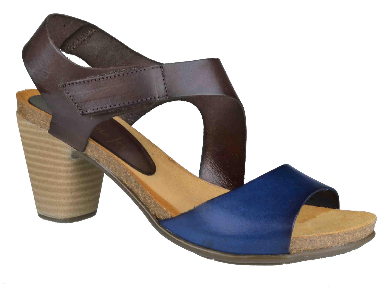 168115e6340 Apostolidishoes Γυναικεια Πεδιλα Marila Shoes 748-6016-26 Μπλε/ Καφε (Μπλε/  Καφέ