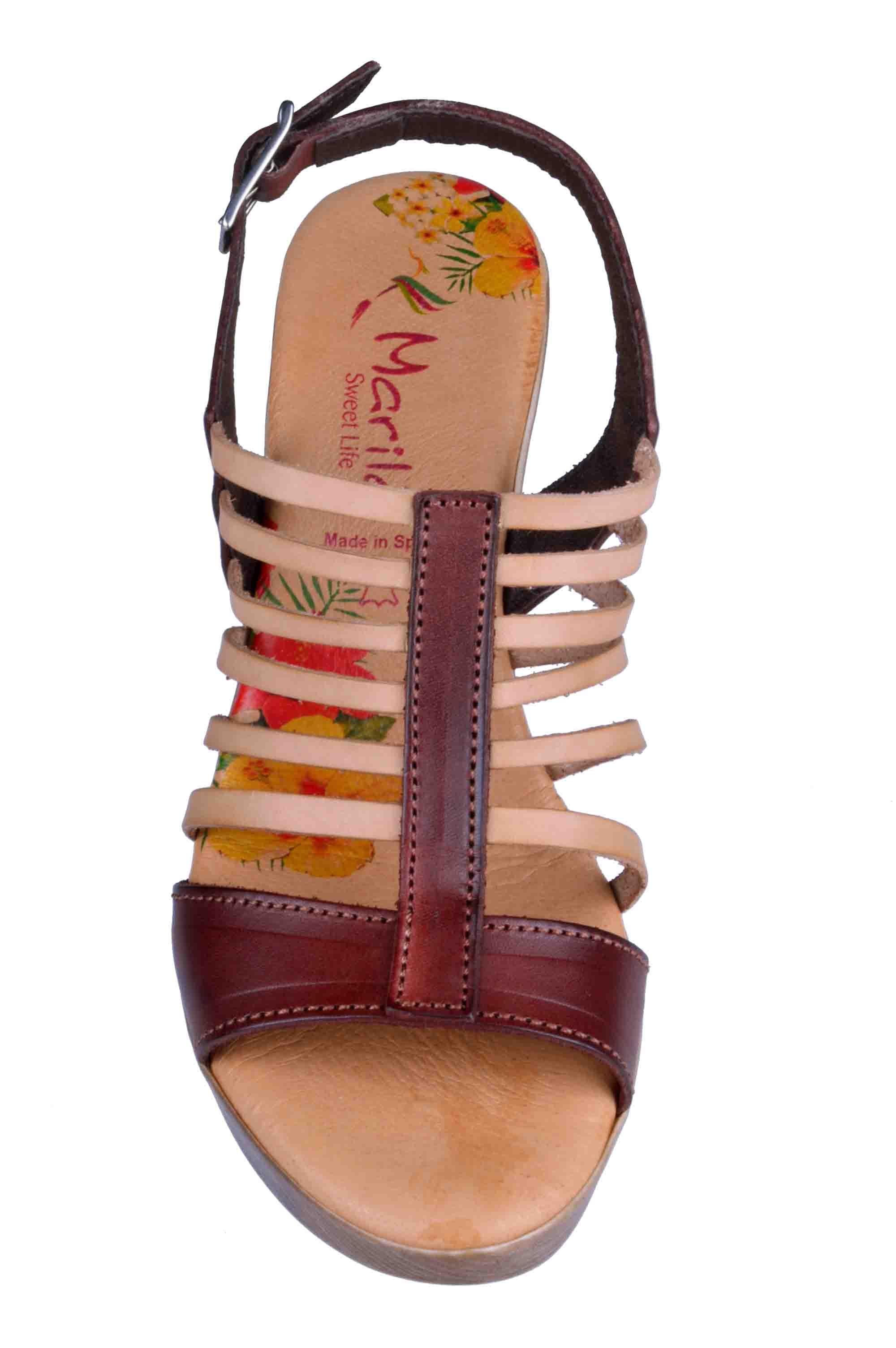 bc069a088d6 Γυναικεια Πεδιλα Marila Shoes 748-6020-29 Καφε | Apostolidis Shoes