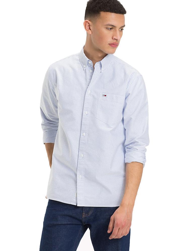 7cfdb4cf007b Apostolidishoes Tommy Hilfiger Classics Stripe Shirt DM0DM04995 100 Λευκό   Μπλέ (Λευκό)