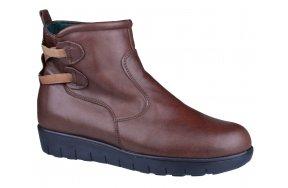 778480412f9 Δερματινα Ανατομικα Μποτακια Apostolidis Shoes 281 Καφε. Γυναικεία Κλασικά  Παπούτσια