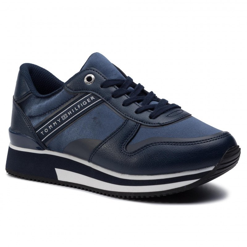 97f63581380 Tommy Hilfiger Mixed Active City Sneaker FW0FW04177 406 Tommy Navy